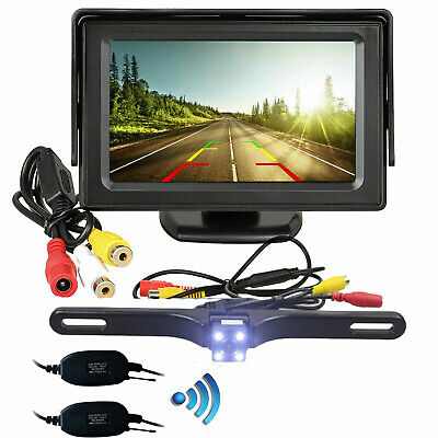 "Car Backup Camera Rear View HD Parking KITS Night Vision+4.3"" TFT LCD Monitor US"