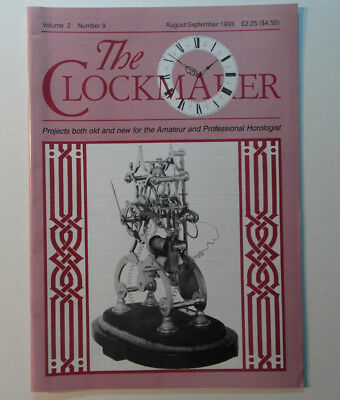 The Clockmaker horology magazine vol 2 No 9 Aug/Sep 1993 see pix for contents