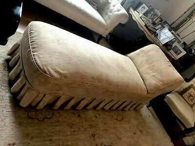 Beautiful Original VICTORIAN Chaise Longue Inc MULBERRY Loose Covers