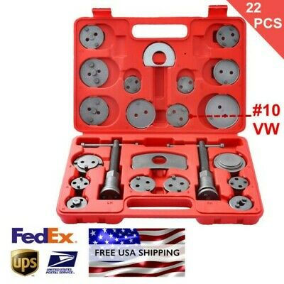 22pcs Heavy Duty Disc Brake Caliper Tool Set & Wind Back Kit for Brake Pad USA