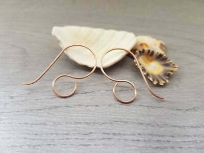 Large Bronze Ear Wires | HANDMADE TO ORDER | 5/10/20 Pairs | CERES