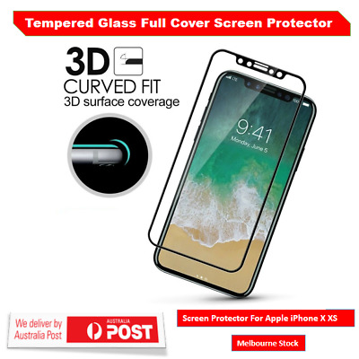Full Coverage Soft Edge 9H Tempered Glass Screen Protector For Apple iPhone X XS