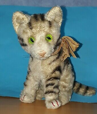 Vintage  Orig. alte STEIFF Katze , Made in Germany US Zone , Mohair , Old Cat