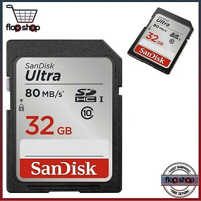 SanDisk Ultra  32GB SD Card Class10 80MB/s Memory Card Quick transfer speeds