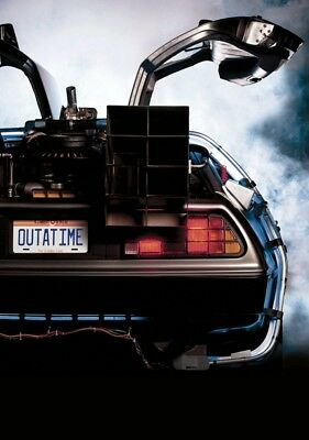BACK TO THE FUTURE Movie PHOTO Print POSTER Film 1985 Textless Michael J Fox 2