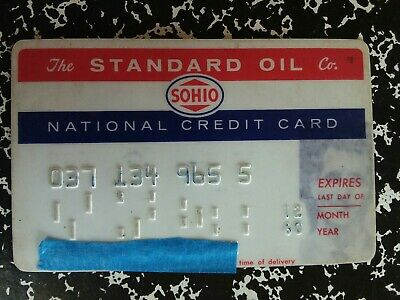 The Standard Oil Co. SOHIO National Credit Card 1960 Vintage Collectible