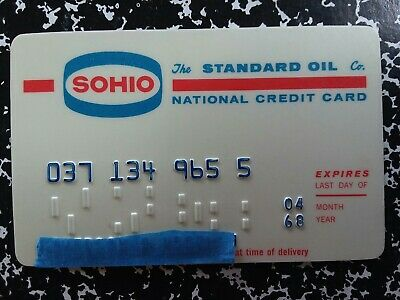 Standard Oil SOHIO NationalCredit Card 1968 Vintage Collectible