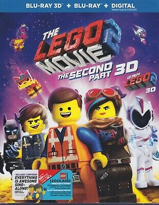 THE LEGO MOVIE 2 3D BLU-RAY & BLURAY & DIGITAL SET with Chris Pratt & Batman