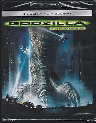 GODZILLA (1998) 4K ULTRA HD & BLURAY SET with Matthew Broderick & Harry Shearer
