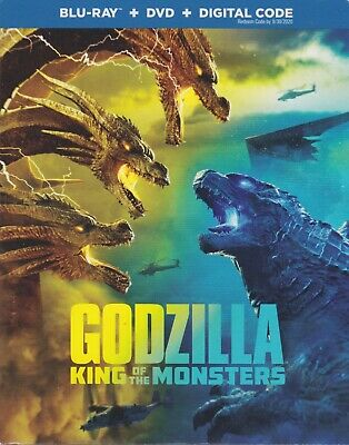 GODZILLA KING OF THE MONSTERS BLURAY & DVD & DIGITAL SET with Kyle Chandler