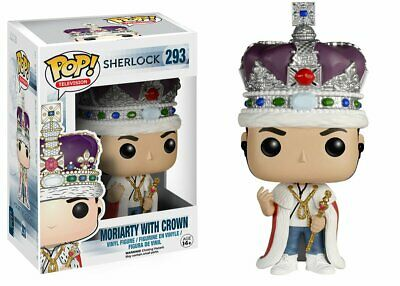 Flawed Box Funko Pop! Television Sherlock Moriarty with Crown #293 Vinyl Figure