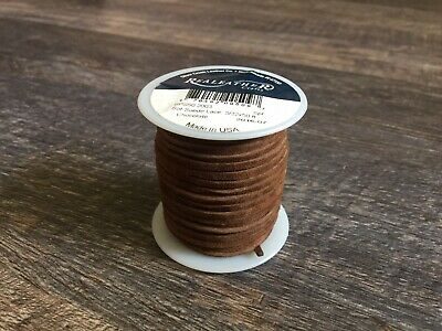 Real Leather Craft Lace 3/32 Inch 50 Foot Spool Chocolate Brown New Made USA
