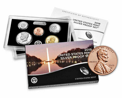 2019 U.S. Silver Proof Coin Set OGP + 2019-W Lincoln Cents Unsealed SKU58164