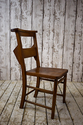 Vintage Wooden Chapel Church Cafe Bar Kitchen Dining Chairs (REF03)