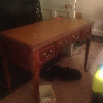 Victorian Or Edwardian  Mahogany Two Drawer Desk
