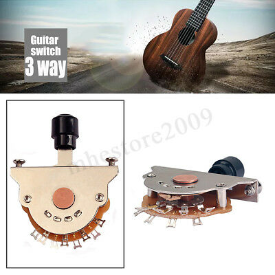 Black Tips 3-Way Electric Guitar Pickup Toggle Switch Selector OAK Style