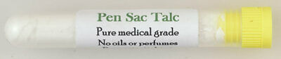 Pen sac talc, medical grade, safe dry lubricant & preservative for rubber parts