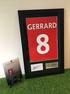 Authentic hand signed Steven Gerrard Liverpool F.C. 2004/05 shirt Framed Print
