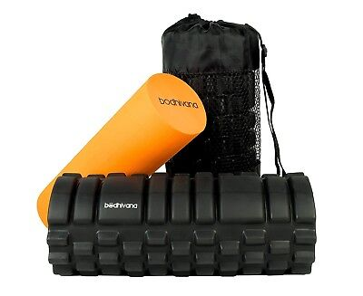 2 In 1 Trigger Point Foam Roller Deep Tissue Muscle Massage High workout pain