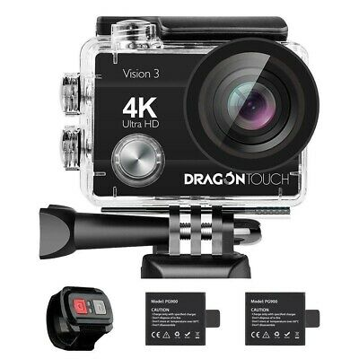 Dragon Touch 4K Action Camera, 16MP Vision 3 Underwater Waterproof Camera 170°