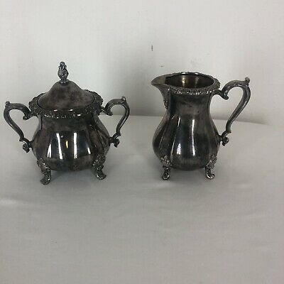 Vintage Webster Wilcox Oneida Countess Creamer and Sugar Bowl Service Set