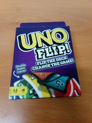 Mattel Uno Flip Card Game 112 Double Sided Cards 2-10 Players 7+ Kids Adults Fun