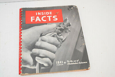 Vintage 1941 Studebaker Inside Facts - Salesman Booklet