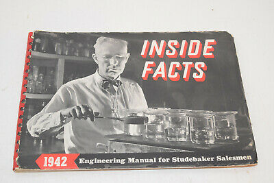 Vintage 1942 Studebaker Inside Facts - Salesman Booklet