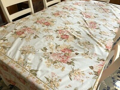 "APRIL CORNELL Tablecloth Yellow Floral 69x103"" Rectangle 100% Cotton (RF1014)"