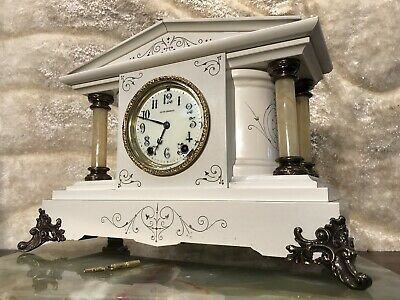 Rare Amazing Vintage Antique Seth Thomas Striking Clock With Pendulum