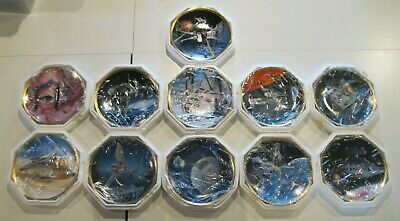 Lot of 11 Star Wars The Hamilton Collection Plates Trilogy Collection Set