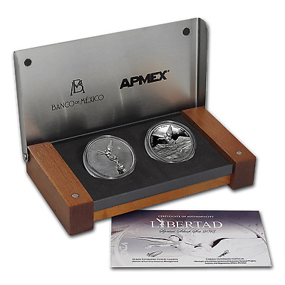2015 Mexico 2-Coin Silver Libertad Proof/Reverse Proof Set - SKU #91150