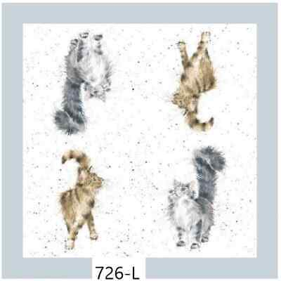 TWO New Paper Luncheon Decoupage Napkins - WRENDALE, CAT, CATS, ANIMALS (726)