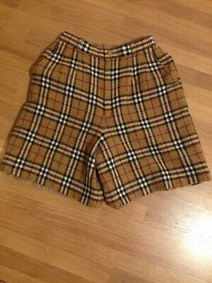 Vintage Burberry wool shorts