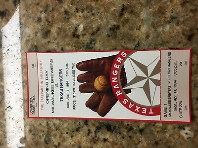 Texas Rangers Ballpark in Arlington Opening Day 1994 Suite Ticket