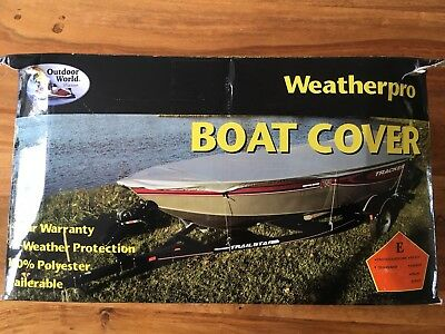 Silver Boat Cover 20 - 22 ft Speed / Sport / Water Ski - Waterproof & UV Proof H