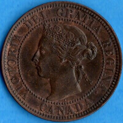 Canada 1901 1 Cent One Large Cent Coin - MS-60