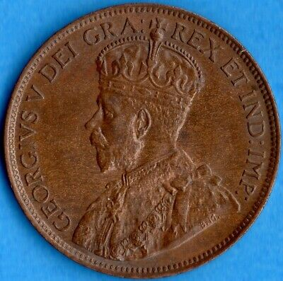 Canada 1913 1 Cent One Large Cent Coin - Uncirculated