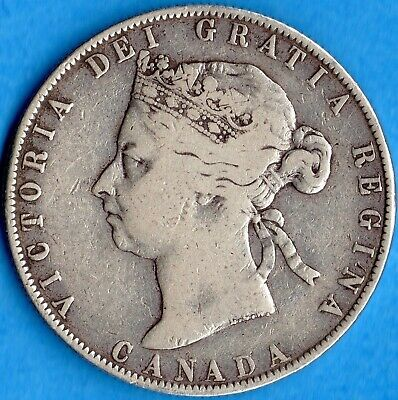 Canada 1898 50 Cents Fifty Cents Silver Coin - Nice VG-10