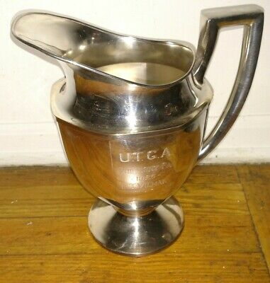 Antique Philmont PA 1925 U. T G.A  golf trophy  silver plate water pitcher