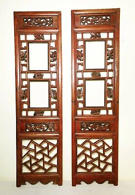 Antique Chinese Screen Panels (2941)(Pair); Cunninghamia Wood, Circa 1800-1849