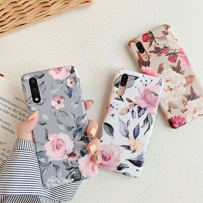 Flower Shockproof TPU Slim Phone Case Cover For iPhone 8 Plus 7 6 6S XS Max XR