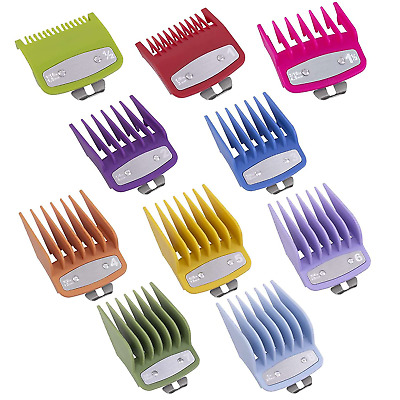Clipper metal clip guard Premium Guides Combs Guards Pack of 8 gold with case