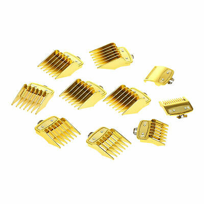 Premium metal clip guard Guides Combs Guards Pack of 8 gold with case
