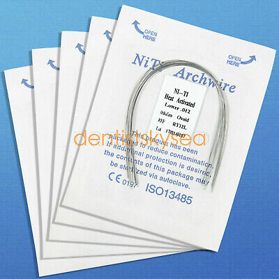 10Pack Dental Orthodontic Heat thermal Activated Niti Round Arch Wire RWS