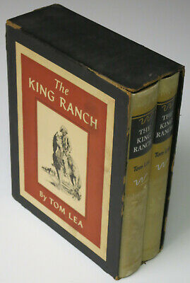 The King Ranch Vol. I & II Tom Lea 1957 First Edition 2 Book Set with Slip Case