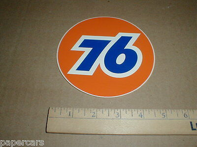 Unocal Union 76 gas station Gasoline Oil vtg old drag racing decal sticker 5""