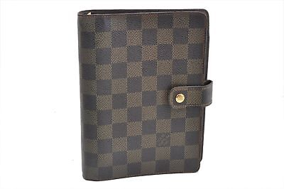 Authentic Louis Vuitton Damier Agenda MM Day Planner Cover R20701 LV 67802