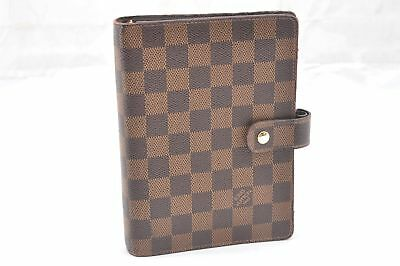 Authentic Louis Vuitton Damier Agenda MM Day Planner Cover R20701 LV 58373