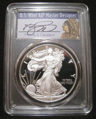 2018 S $1 American SILVER EAGLE PCGS PR70 First Strike Cleveland Native Chief ~~
